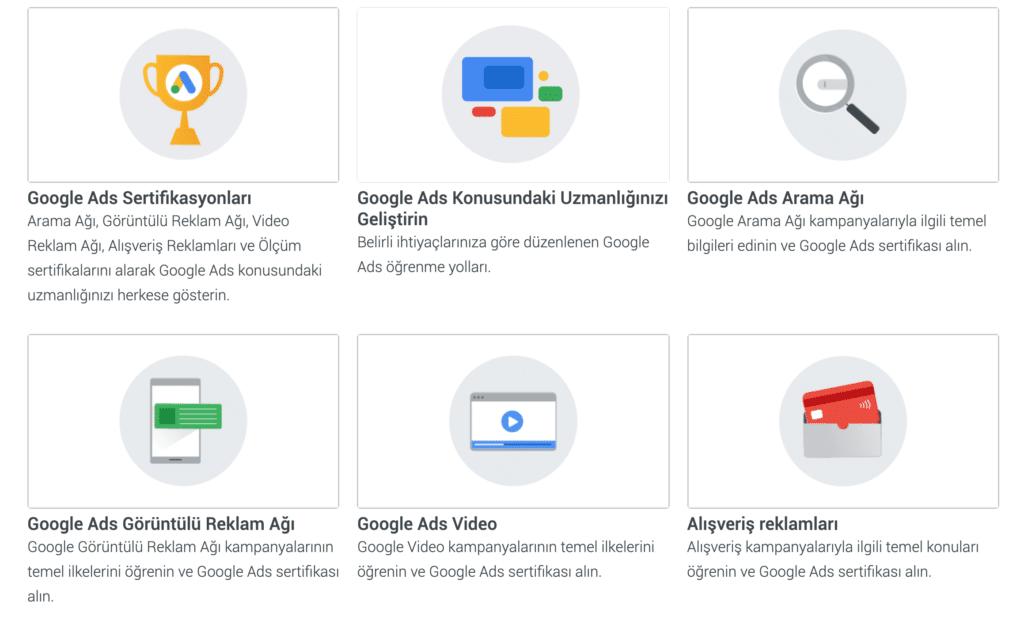 Google ads arama ağı sertifikası